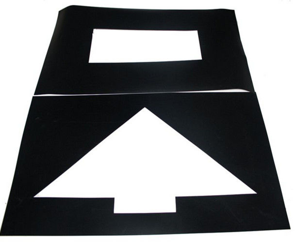 Parking Lot Symbol PVC Stencil Rectangle For Symbol Mark Printing Spurt Draw